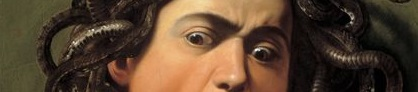 """Dziełą sztuki weFlorencji - Caravaggio """"Głowa Meduzy"""""""