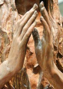 """Dzieła sztuki we Florencji - fragment rzeźby Donatella """"Maria Magdalena"""""""