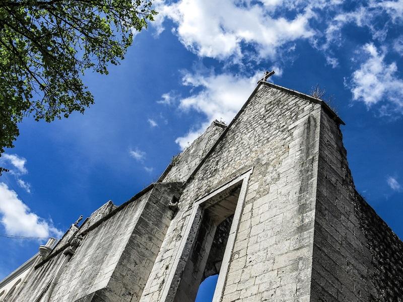 Lizbona isłynny kościół bezdachu