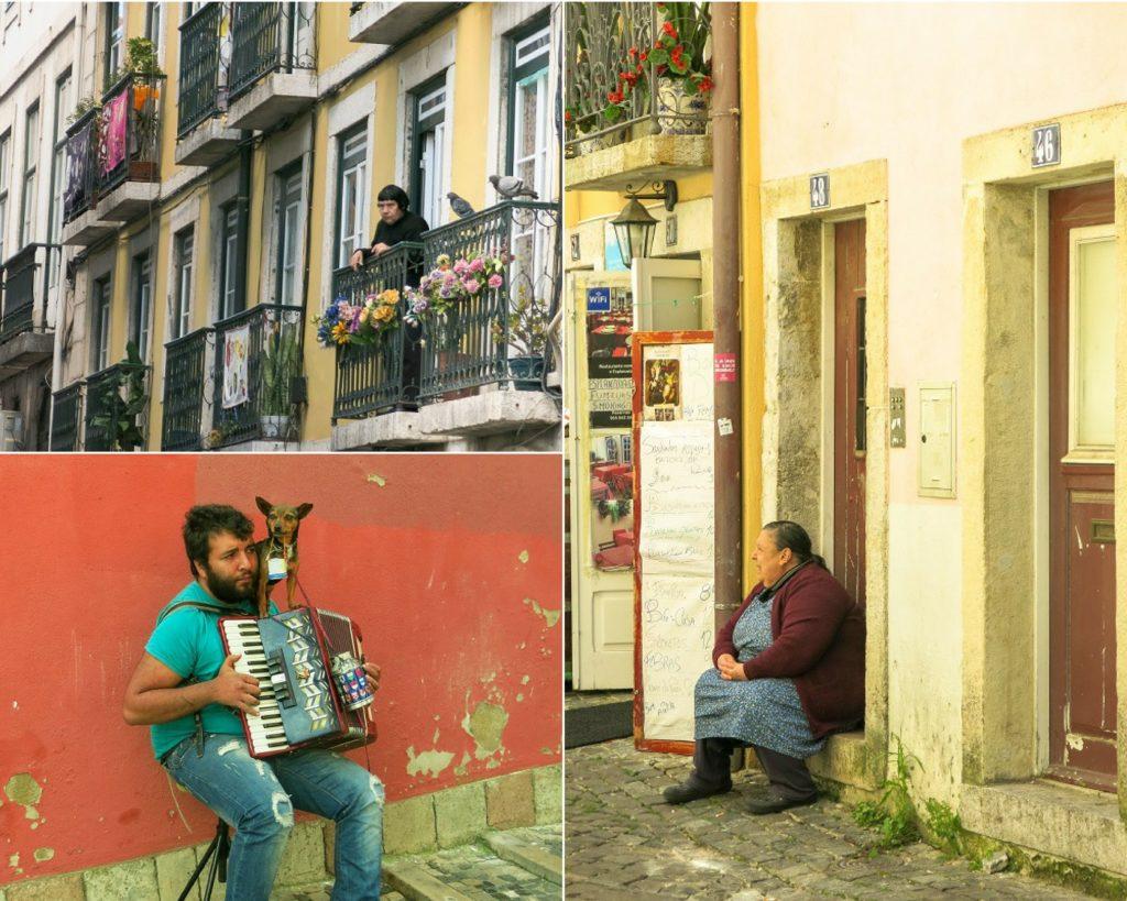 Lizbona - mieszakńcy najstarszej dzielnicy miasta