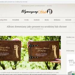 Album drewniany - Wymarzony Ślub