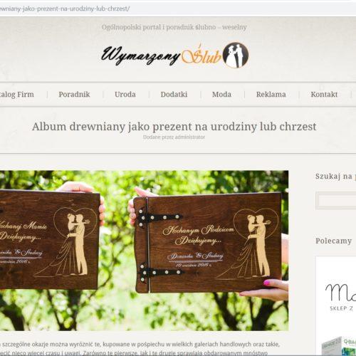 Album drewniany – Wymarzony Ślub