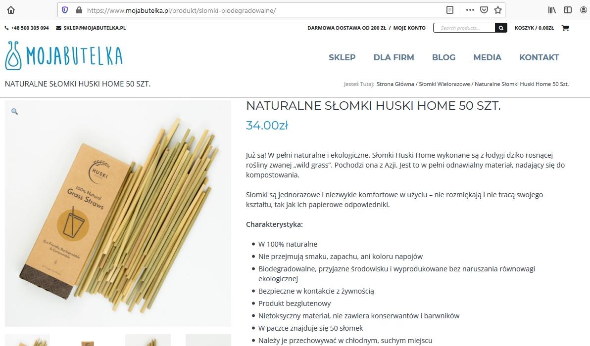 Naturalne Słomki Huski Home